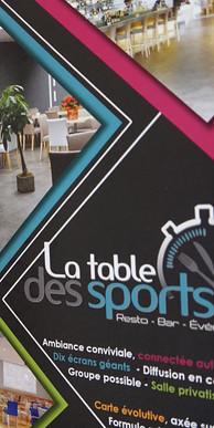 LA TABLE DES SPORTS