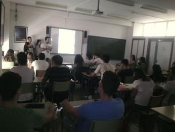 Presentación del trabajo al resto de clases del instituto