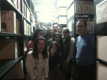 Visita al archivo municipal
