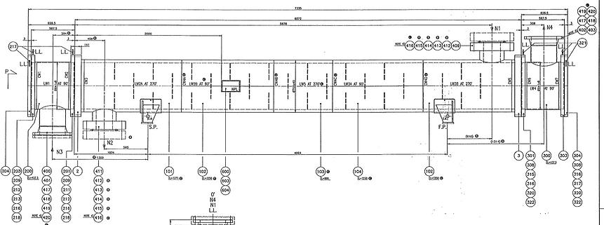 Shell & Tube heat exchanger 2D drafting