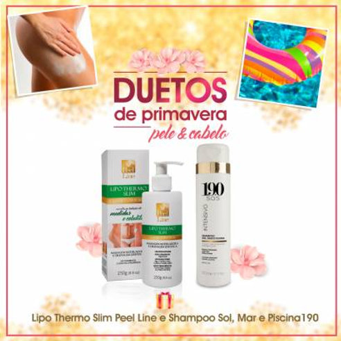Lipo Thermo Slim - Creme de Massagem - 250g + Shampoo Sol,Mar e Piscina - 300ml