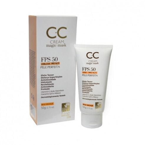 CC Cream FPS 50 Multifuncional com Efeito Lifting Bege Claro - 50g