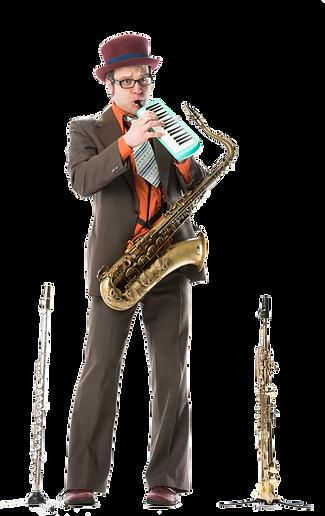 Klaus Widmer, Saxofon, Swiss Jazz Orchestra, Le Virage Dangereux, Strassenband, Buskers, Partyband, Kleinkunst, Feste, Quartierfeste