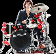 Martin Stadelmann, Drums, Le Virage Dangereux, Strassenband, Buskers, Partyband, Kleinkunst, Feste, Quartierfeste, Jade Kinderschlagzeug, Waschbrett, Ukulele, Flöte