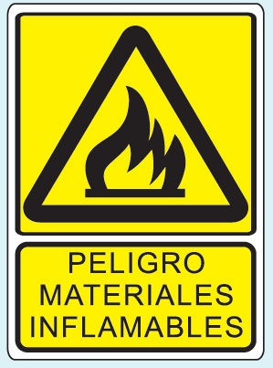 Materiales inflamables P-19 25 X 35