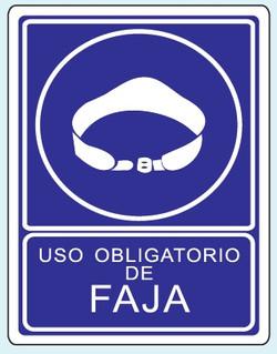 Uso de faja O-16 25x35 y 35x50