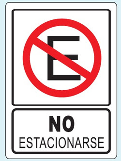 No estacionarse R-39 25x35 y 35x50