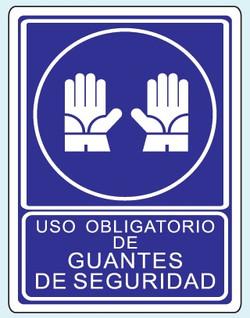 Uso de guantes O-15 25x35 y 35x50