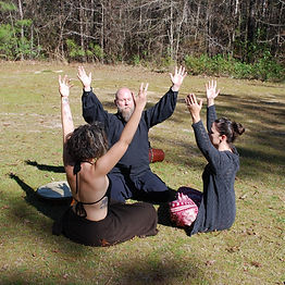Group shamanc sessins wth Roger Lockshier in Wilmington, NC