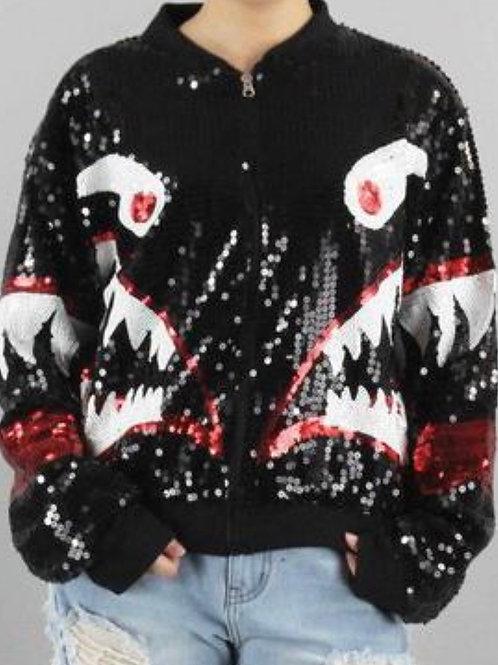 Black Shark Sequin Jacket