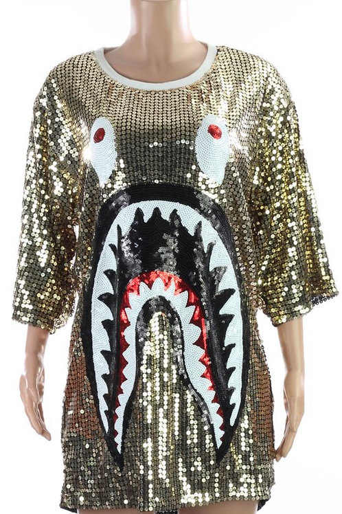 Gold Sequins Shirt/Dress