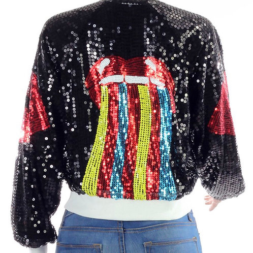Lips Multicolored Sequin Jacket