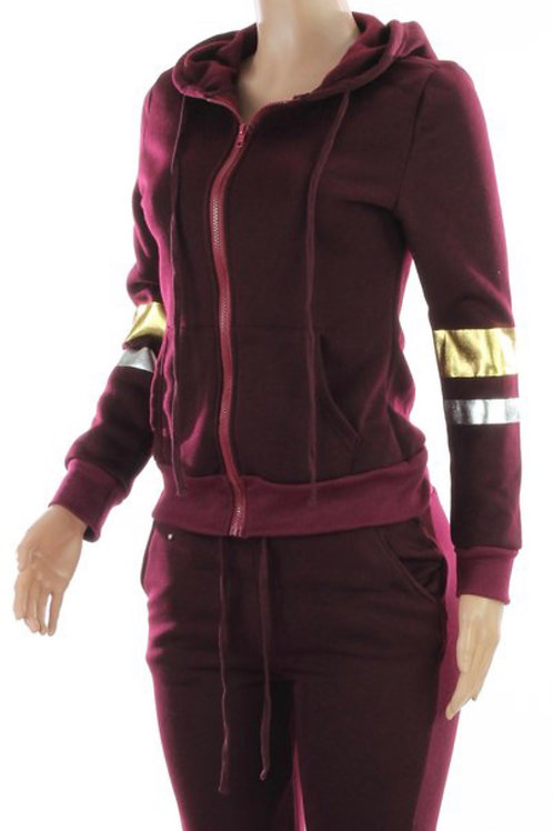 Burgundy Fleece Set
