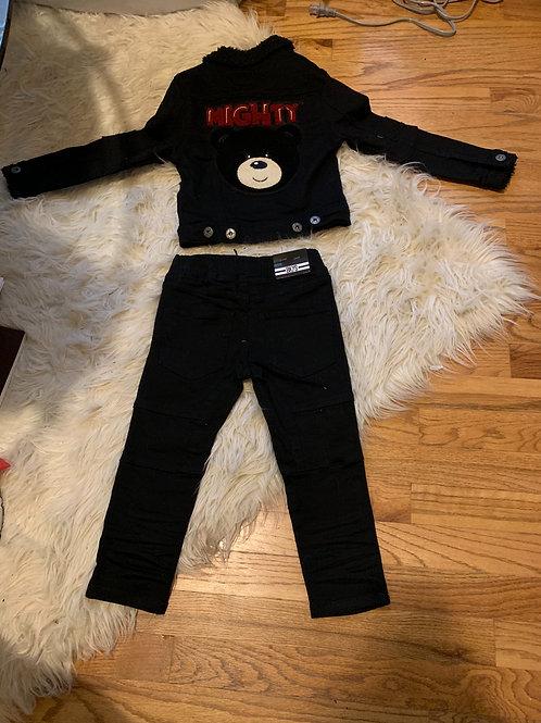 Boys Mighty Bear Denium Set
