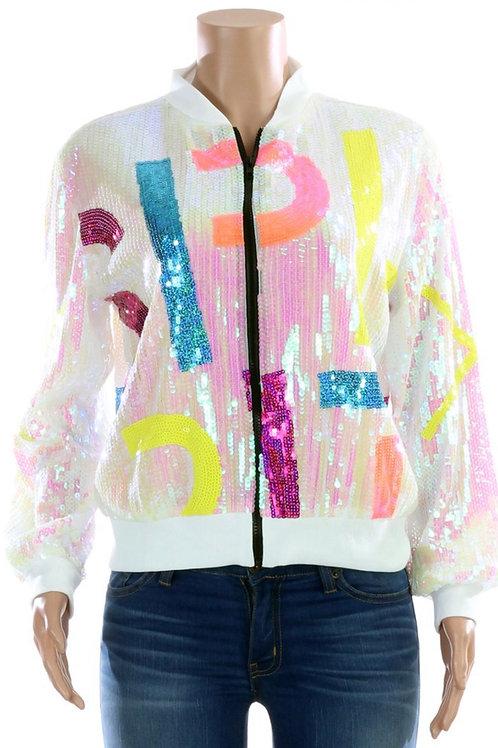 Iridescent Spirit Sequin Jacket