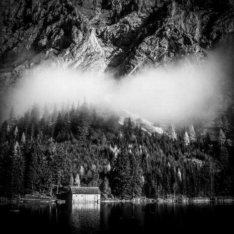 Hütte am Leopoldsteiner See