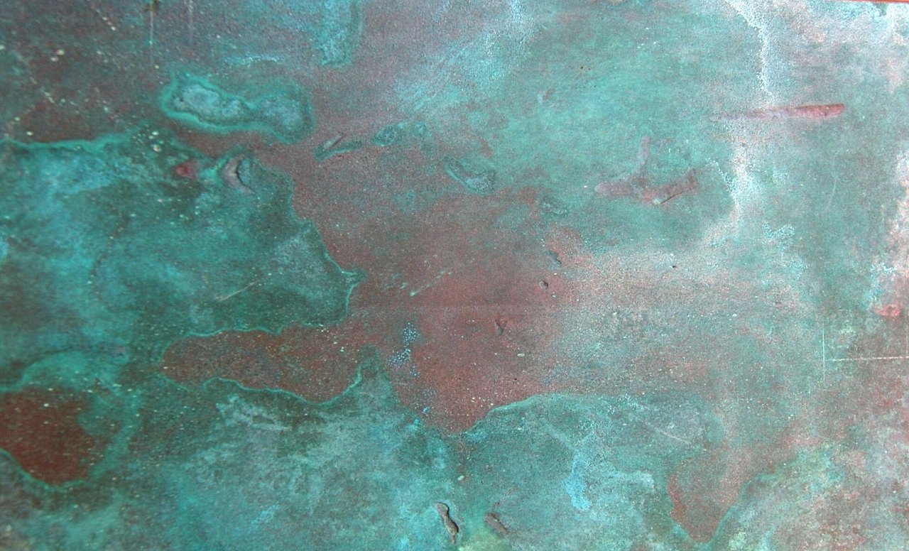 copper oxidised - kupfer oxidiert