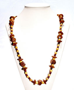 Spearcube Long Lariat Teak  Necklace AFW