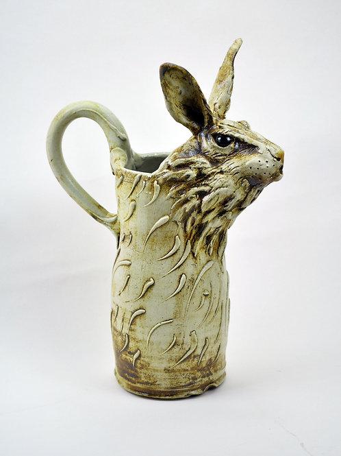 Sculpted Rabbit Pitcher