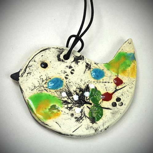 Clay Fossil Bird Ornament