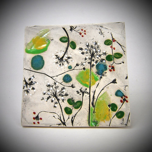 Queen Anne's Lace Clay Fossil Hanging Tile