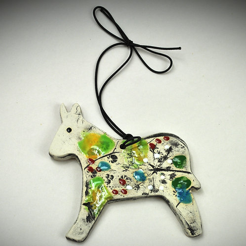 Clay Fossil Donkey Ornament