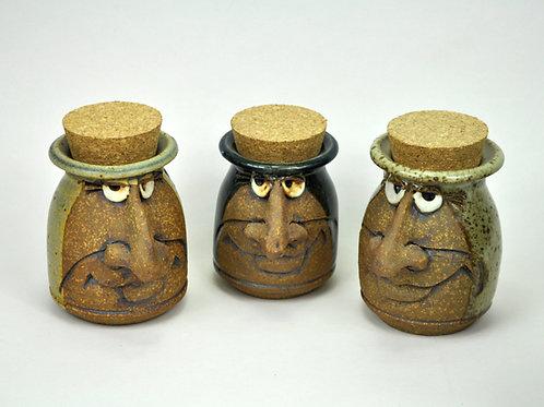 Face Cork Jar