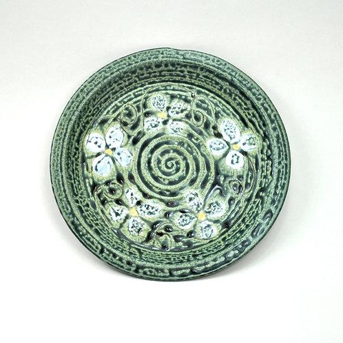 Salad Plate in Ash Blue Floral