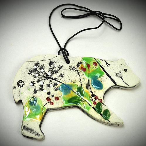 Clay Fossil Bear Ornament