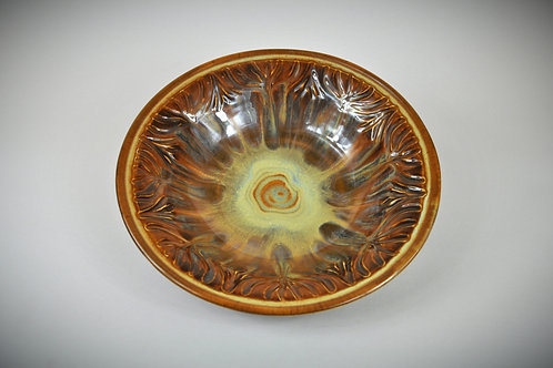 Carved Pottery Bowl 107