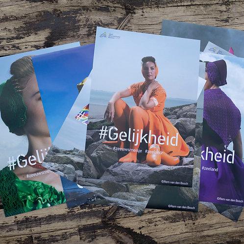 8 Campagne posters Zeeuws Meisje #gelijkheid