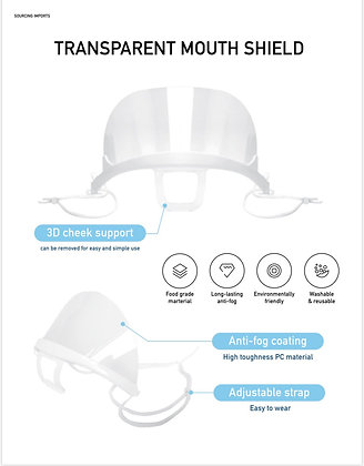 Anti Fog Clear Mouth Shield (Packs)