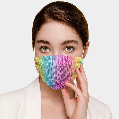 Rhinestone Mesh Fashion Mask