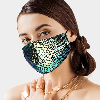 Snake Skin Pattern Print Fashion Mask