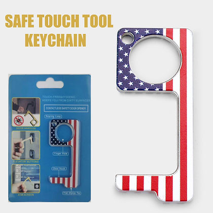 Hygienic Germ-Free Key Chain (FLAG)