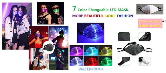 Color Changeable LED Masks