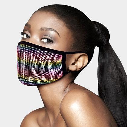 Rhinestone Embellished Fashion Mask