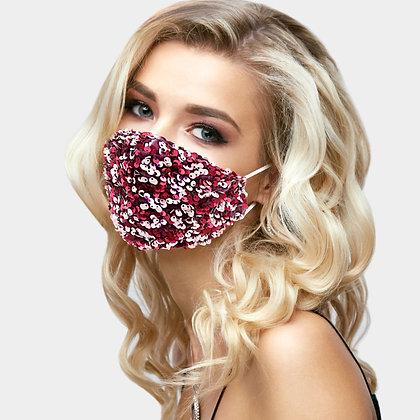 Sequin Cluster Fashion Mask