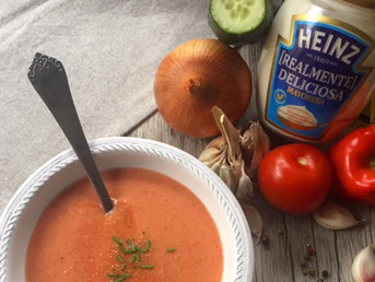 Gazpacho con Mayonesa Heinz #RealmenteDeliciosa