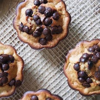 Muffins de plátano, avena y chocolate (sin azúcar ni lácteos)