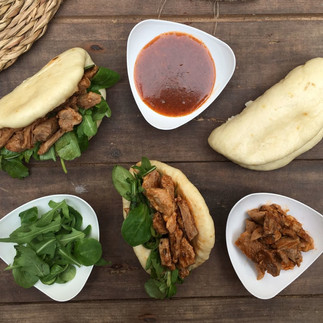 Steamed Buns con ternera y salsa agridulce