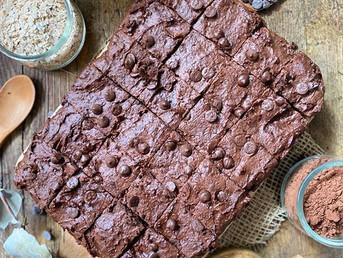Brownie con crema de cacahuete