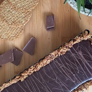 Tarta de galletas y chocolate (sin horno)