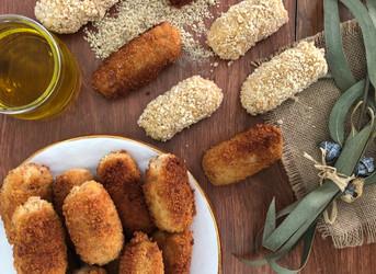 Croquetas de pollo y jamón ibérico