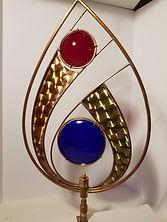 """""""Tear drop """" Copper & Brass Sculpture 24"""" tall"""