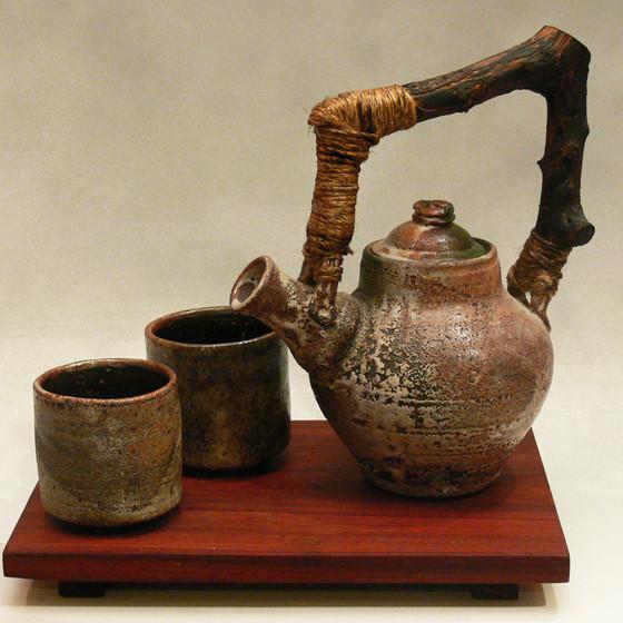 Sand Blasted Tea Set