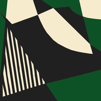 Imprimé géométrique vert - soeur FW18