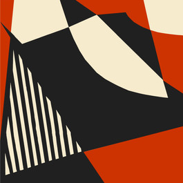 Imprimé géométrique vermillon - soeur FW18