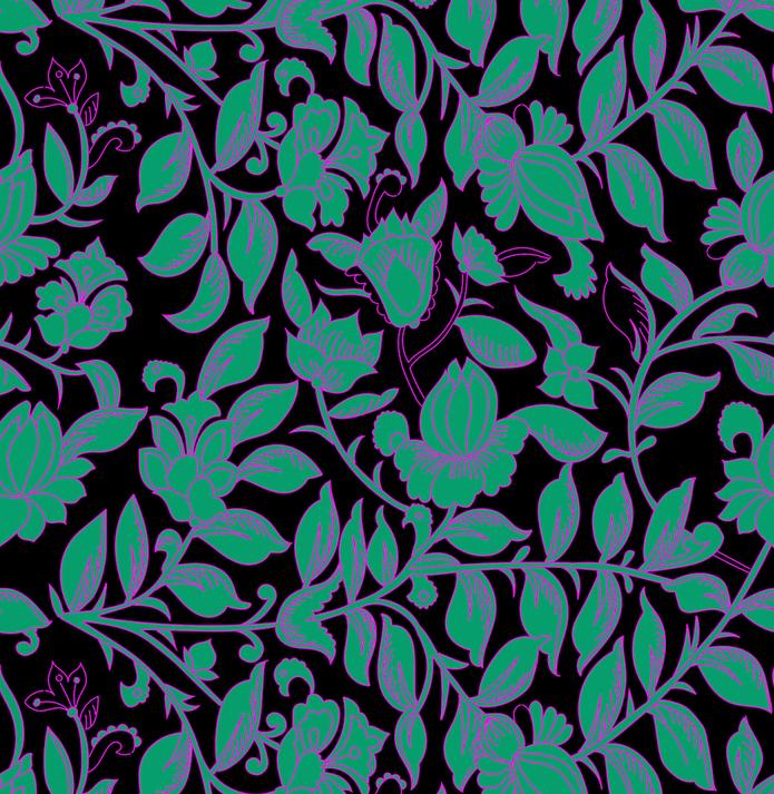 Fleurs Luna - green/black
