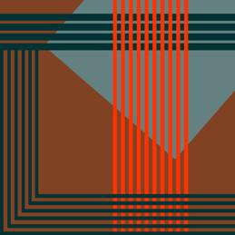 Imprimé géométrique brun - soeur SS19